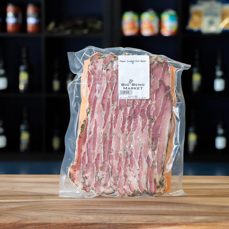 Pepper Crusted Pork Bacon